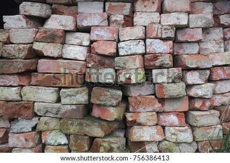 Red bricks texture #756386413