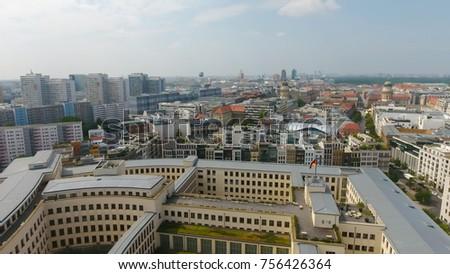 Aerial view of Berlin skyline, Germany. #756426364