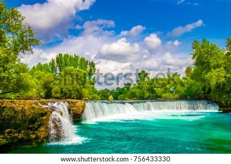 Waterfall On The River Manavgat, Turkey #756433330