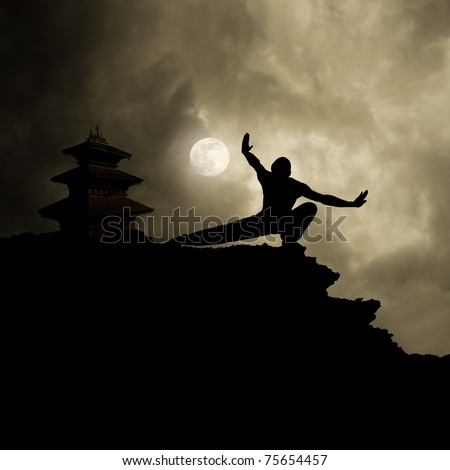 Kung Fu Martial Art Background Royalty-Free Stock Photo #75654457