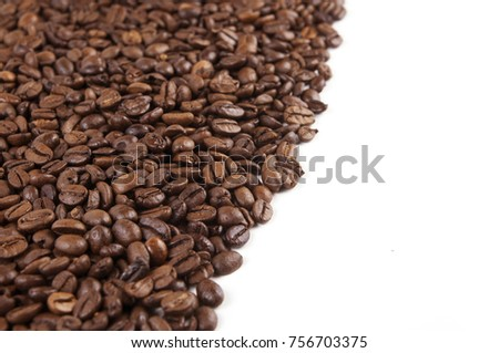 Background of coffee beans. #756703375