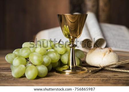 Symbol christianity religion, communion background #756865987