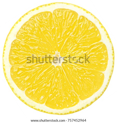 lemon slice, clipping path, isolated on a white background  #757452964