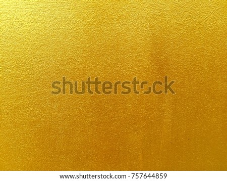 Closeup gold cement wall texture background for backdrop design #757644859