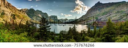 Montana Glacier National Park Vista Royalty-Free Stock Photo #757676266