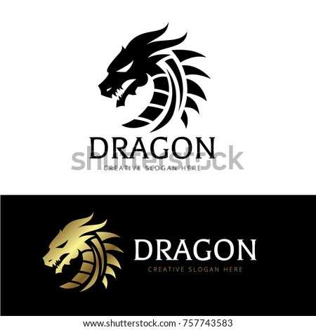 Dragon Logo Template.
