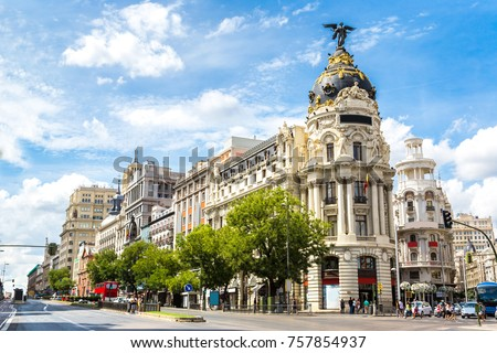 Madrid in a beautiful summer day, Spain #757854937