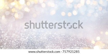 Bokeh winter background Royalty-Free Stock Photo #757921285