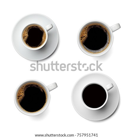 collection of various coffee cup on white background. each one is shot separately #757951741