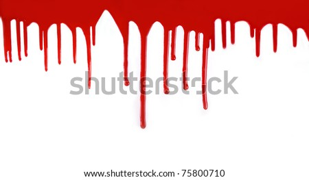 high resolution confluent blood isolated on white background