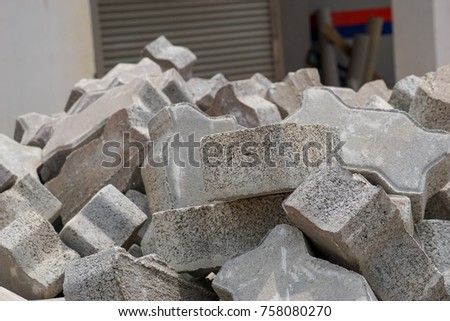 Block of stones for construction #758080270