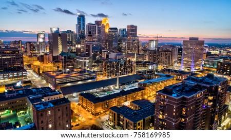 Minneapolis Cityscape - Dusk