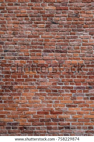 old red brick wall vertical texture background #758229874