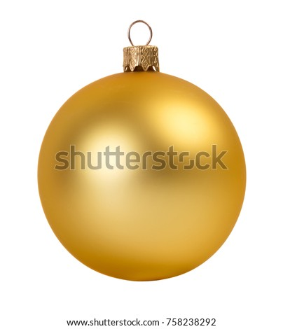 Glitter christmas ball isolated on white background Royalty-Free Stock Photo #758238292