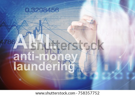 Anti Money Laundering Concept image of Business Acronym AML (Anti Money Laundering) #758357752
