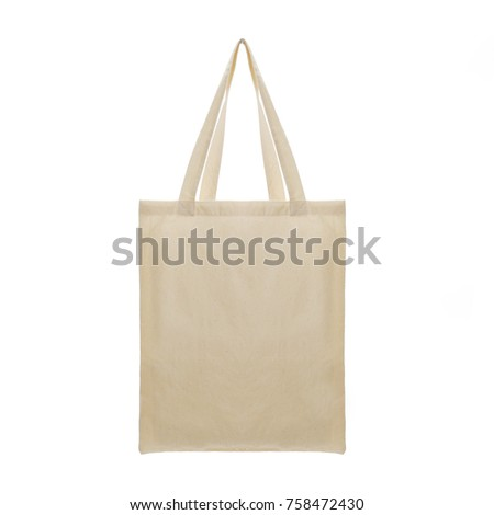 White brown sackcloth Cloth bags #758472430