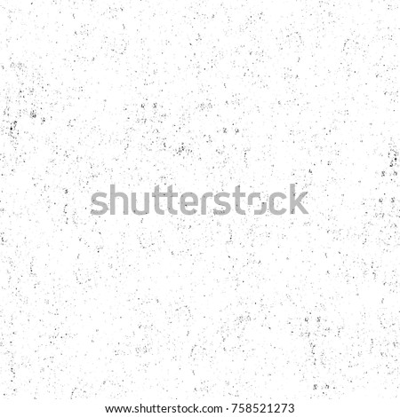 Grunge black and white seamless pattern. Monochrome abstract texture. Background of cracks, scuffs, chips, stains, ink spots, lines. Dark design background surface. Gray printing element #758521273