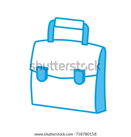 Business briefcase isolated icon vector illustration graphic design #758780158