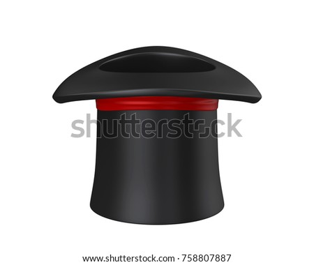 Magician Hat Isolated. 3D rendering #758807887