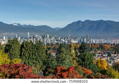 Vancouver city view in autumn #759008503