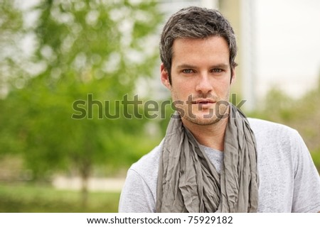 Handsome man outdoors #75929182