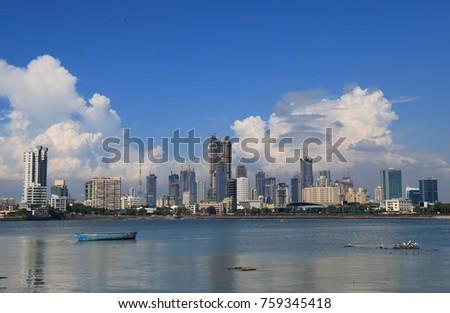 Mumbai Bombay downtown skyscraper cityscape India #759345418