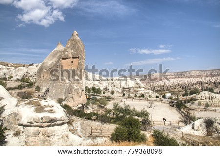 Cappadocia landscape near the town of Goreme in Turkey #759368098