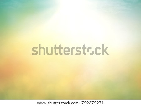 Friends of the environment background concept: Abstract blur nature sunrise