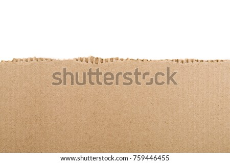 Torn cardboard Paper with space for text  Royalty-Free Stock Photo #759446455