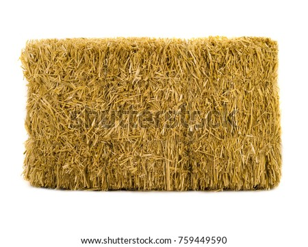 hay isolated on a white background Royalty-Free Stock Photo #759449590