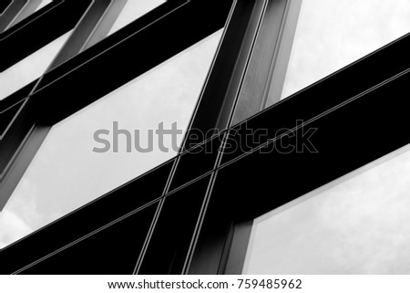building frame and glass