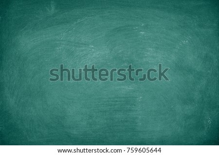 Green Chalkboard. Chalk texture school board display for background. chalk traces erased with copy space for add text or graphic design. Education concepts  #759605644