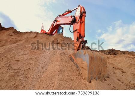 excavator in a quarry #759699136