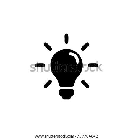 lamp icon logo Royalty-Free Stock Photo #759704842
