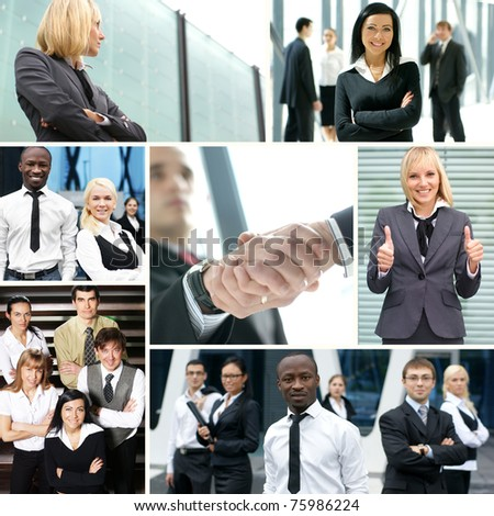 Collage made of some business pictures #75986224