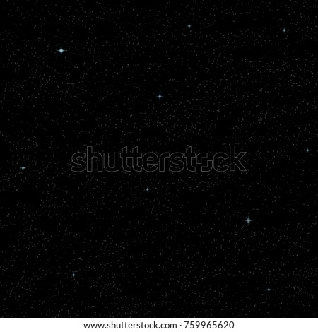 Black space with a lot of stars on black background. Vector #759965620