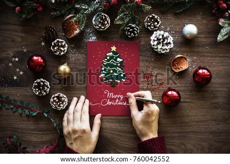 Christmas wishing card #760042552