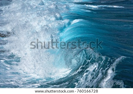 Beautiful transparent sea wave. Abstract water background. #760166728