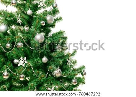 Christmas Tree isolated on white background #760467292