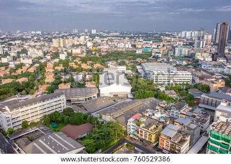22 November, 2017: City buildings at Bangkok Thailand #760529386