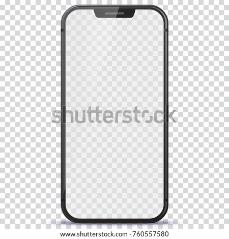 Smart Phone vector illustration with transparent screen