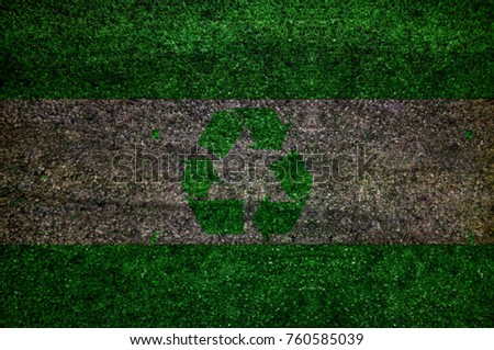 Wood Recycle sign flag texture background #760585039