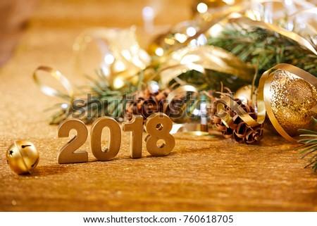 Christmas card. New 2018 Year. #760618705