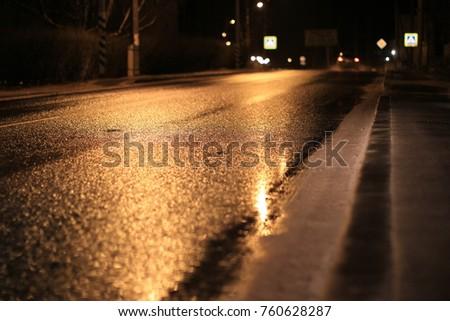 Road at sunset #760628287
