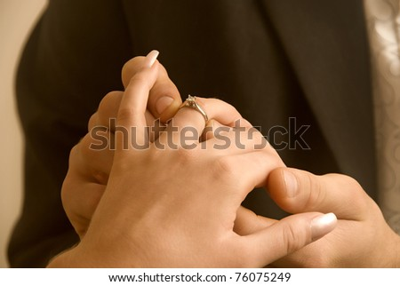 Young couple getting engaged #76075249