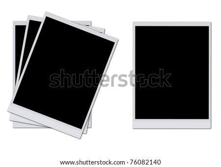 Blank photo frames isolated on white background