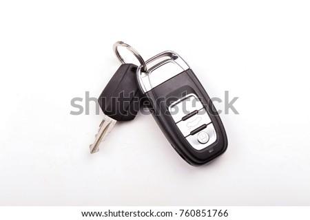 Car key isolated on white background  Royalty-Free Stock Photo #760851766