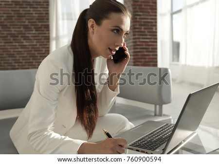 business woman working with financial documents #760900594