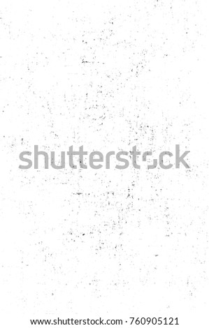 Grunge black and white pattern. Monochrome particles abstract texture. Background of cracks, scuffs, chips, stains, ink spots, lines. Dark design background surface. Gray printing element #760905121