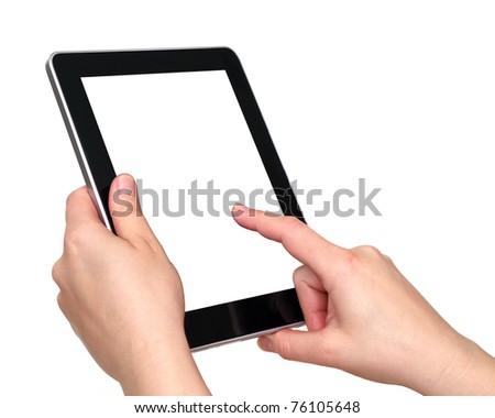 tablet over white background #76105648